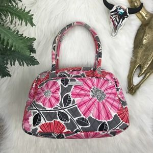 Vera Bradley Pink Gray White Floral Shoulder Bag